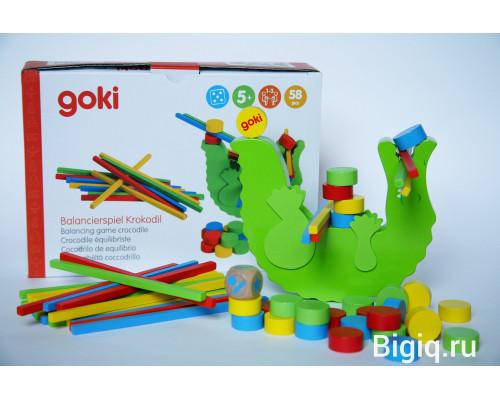 Детская игрушка Балансирующий Крокодил Goki