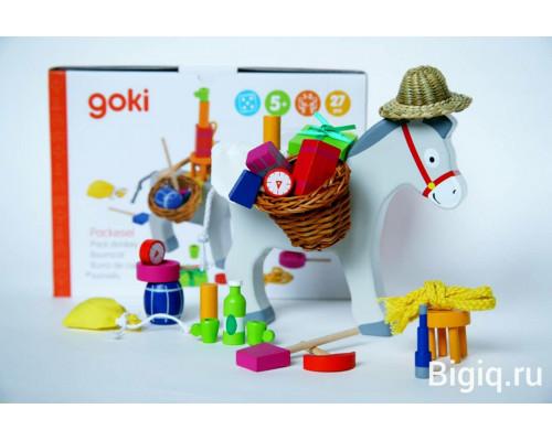 Детская игрушка Балансир Ослик 2 Goki с корзинками