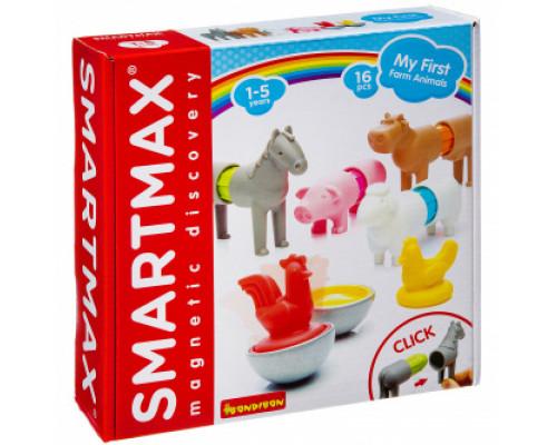 Магнитный конструктор Bondibon SmartMax Мой первый набор животных ферм