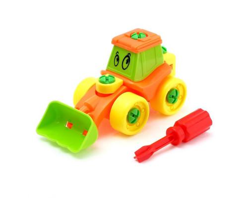 Конструктор для малышей Трактор 21 деталь цвета МИКС