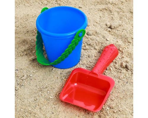 Набор для игры в песке ведёрко лопатка, МИКС