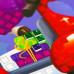 Мозаика стикерная С Новым годом Бычок на мопеде