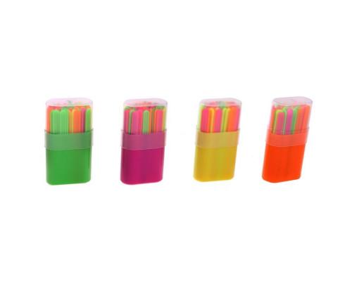 Набор счетных палочек 50 штук в пластиковом пенале микс