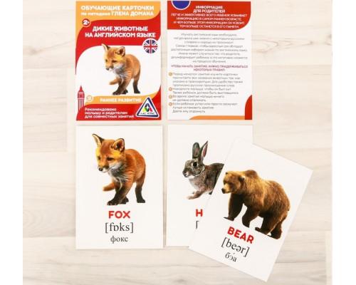 Карточки Домана Дикие животные на английском языке
