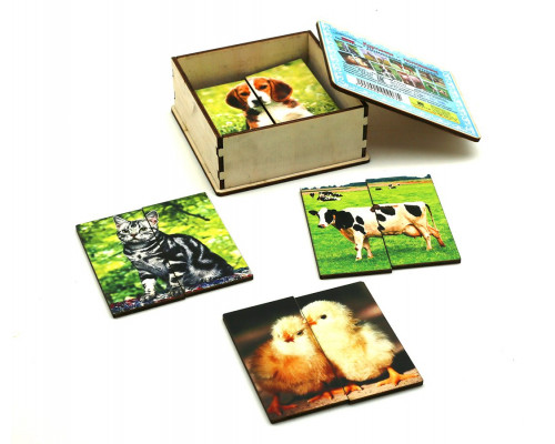 Картинки-половинки Домашние животные Smile Decor