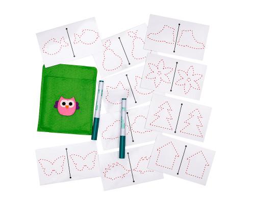 Многоразовые карточки для рисования двумя руками Smile Decor